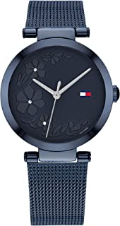 Tommy Hilfiger Women'S Blue Dial Ionic Plated Blue Steel Watch - 1782239