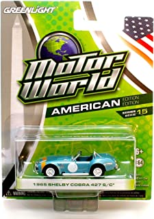 1965 SHELBY COBRA 427 S/C (Blue) * Motor World Series 15 * 2016 Greenlight Collectibles American Edition 1:64 Scale Die-Cast Vehicle