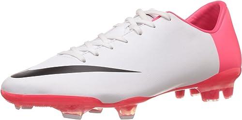 Nike Chaussures Chaussures de Football Mercurial Glide III FG Euro 2012 Blanc Noir Rouge feu  100% authentique