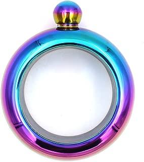 YDDDD Bracelet Bangle Flask Drinking Stainless Steel Whiskey Hidden Hip Flasket Jewelry Gift For Her (3.5 oz Rainbow)