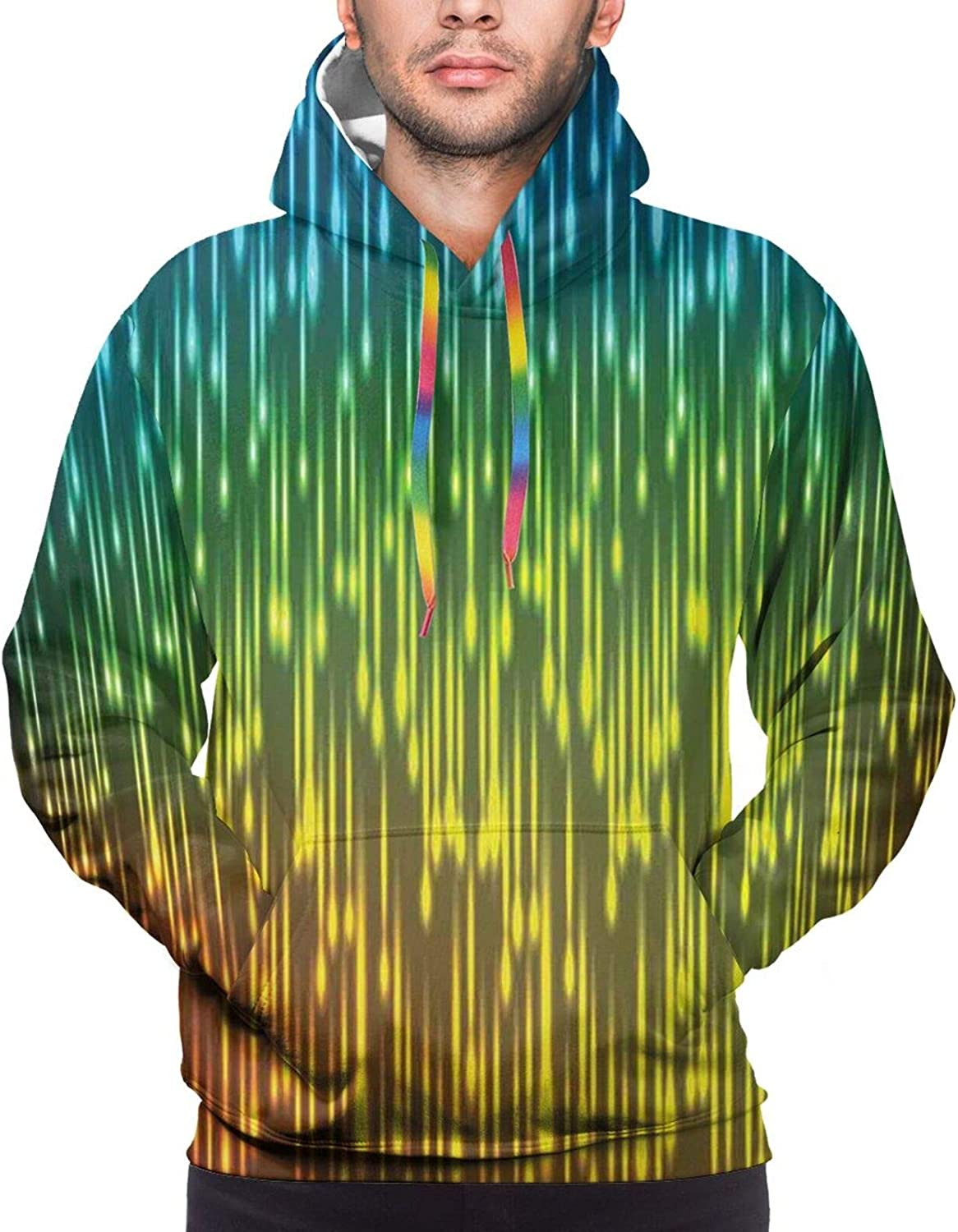 Men's Hoodies Sweatshirts,Galaxy Stars in Space Celestial Astronomic Planets in The Universe Milky Way Print