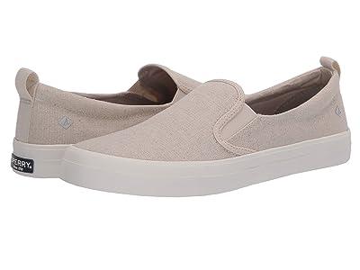 Sperry Crest Twin Gore Sparkle Linen Sneaker (Oat) Women
