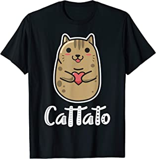 Cat Potato Cattato Hilarious Novelty T-Shirt