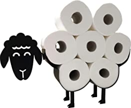 Cute Black Sheep Toilet Paper Roll Holder - Cool Novelty Free Standing or Wall Mounted Toilet Roll Tissue Paper Storage St...
