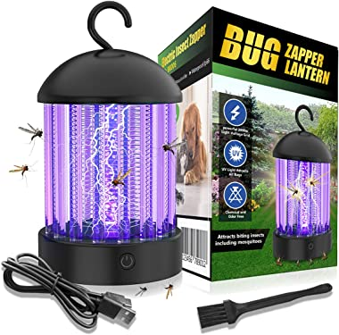 okk Electronic Bug Zapper Indoor and Outdoor, Portable Mosquito Killer Lamp Waterproof IP66 Insect Killer Trap with LED for F