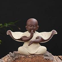 Sculptuur Decoratie - Mode Creatief Kleine Monnik Sculptuur Standbeeld Keramiek Woondecoratie Ambachten Chinese Theeservie...
