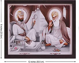 Handicraft Store Gurunank Dev Ji and Guru Gobind Singh ji, A Picture for People, A Poster with Frame Must for Every Family, Office, Gift and Auspicious Purpose