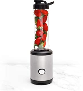 Compact Personal Blender and Smoothie Maker, Stainless Steel Blades, 600ml Travel Bottles for Shakes and Smoothie, BS plug