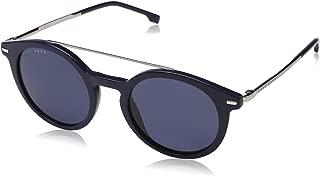 Men's Boss 0960/s Rectangular Sunglasses, BLUE, 53 mm