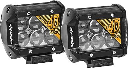 Eyourlife Led Light Bar,2Pcs 6000K 18W 4Inch 4D Lens Spot Beam Led Work Light Driving Fog Light With Brackets Waterproof For Jeep Truck ATV UTV SUV