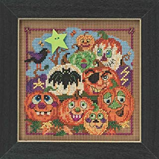 Painted Pumpkins Halloween Beaded Counted Cross Stitch Kit Mill Hill 2015 Buttons & Beads Autumn MH145206