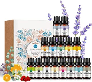 Aromatherapy Top 15 Essential Oil Gift Set, 100% Pure Oils - (sandalwood,lavender,tea tree,chamomile,eucalyptus,rose,vetiv...