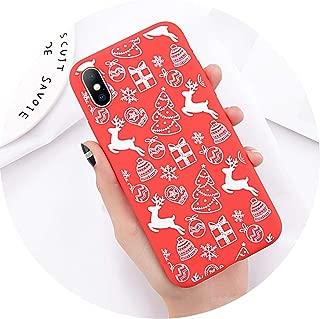 Phone Case iPhone 6 6s 7 8 Plus X XR XS Max Cute Cartoon Christmas Santa Claus Elk Soft TPU iPhone 5 5S SE Cover,T1 iPhone 5 5s SE