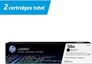 HP 126A | CE310AD | 2 Toner Cartridges | Black
