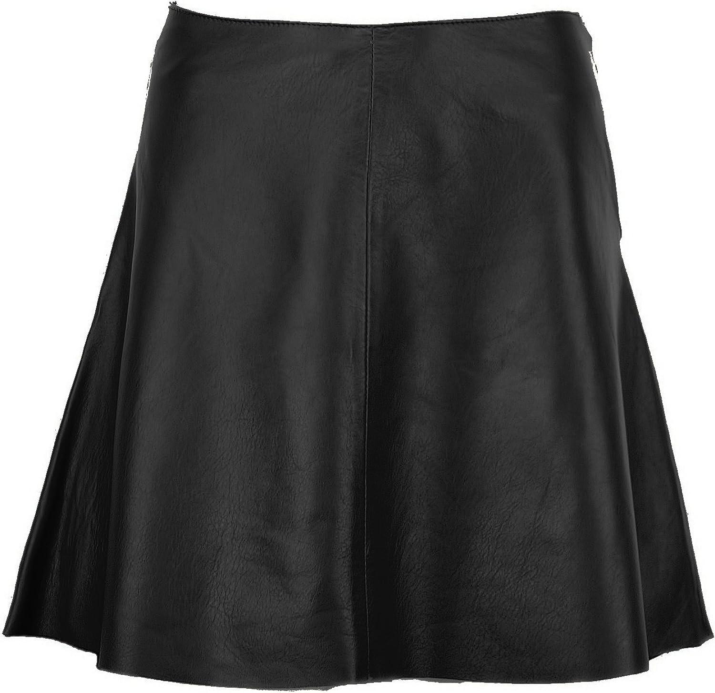 DX Elegant Women's Leather Skirt, ALine Skirt KSP0003