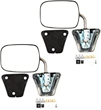 SCITOO Towing Mirrors Fit Chevrolet/GMC Truck Driver Side and Passenger Side Set Stainless Steel Manual Folding Mirrors (Pair)