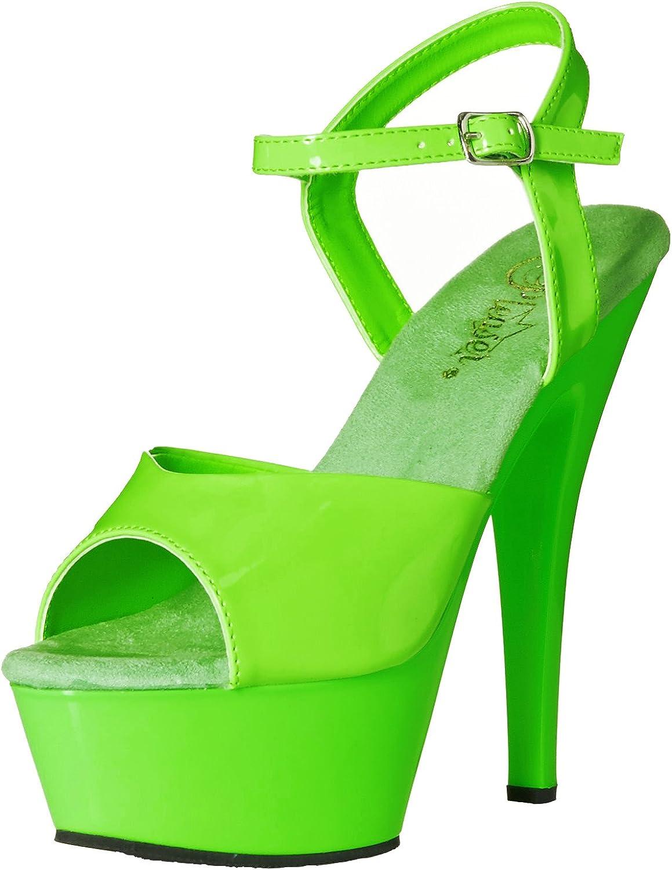 Pleaser Womens Kiss209uv Ngn M Platform Sandal