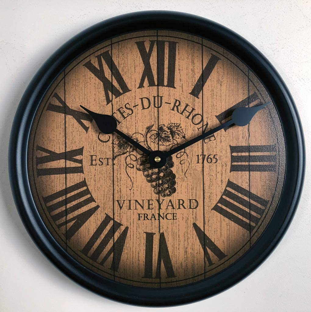 Wine Barrel Lid 4 years warranty Wall Clock Direct store Available Shi in 8 Sizes Most