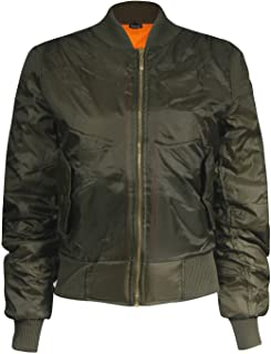Forever Womens Classic Style Zip Up MA1 Bomber Jacket