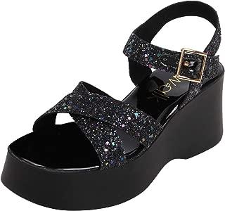 Catwalk Women's Black Wedge Sandals Fashion