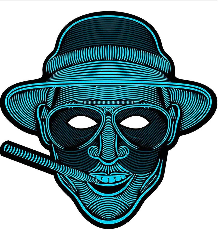 LYQZ LED-Maske, Halloween-Maske Maske DouYin Kaltlichtmaske B07KWKNW97 Deutsche Outlets   König der Quantität