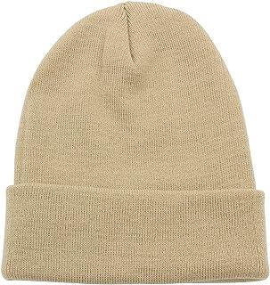 aa935abf89c PZLE Warm Winter Hat Knit Beanie Skull Cap Cuff Beanie Hat Winter Hats for  Men