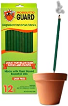 Mosquito Guard Incense Repellent Sticks – 12 Inch Incense Sticks Made with Natural Plant Based Ingredients: Citronella, Le...
