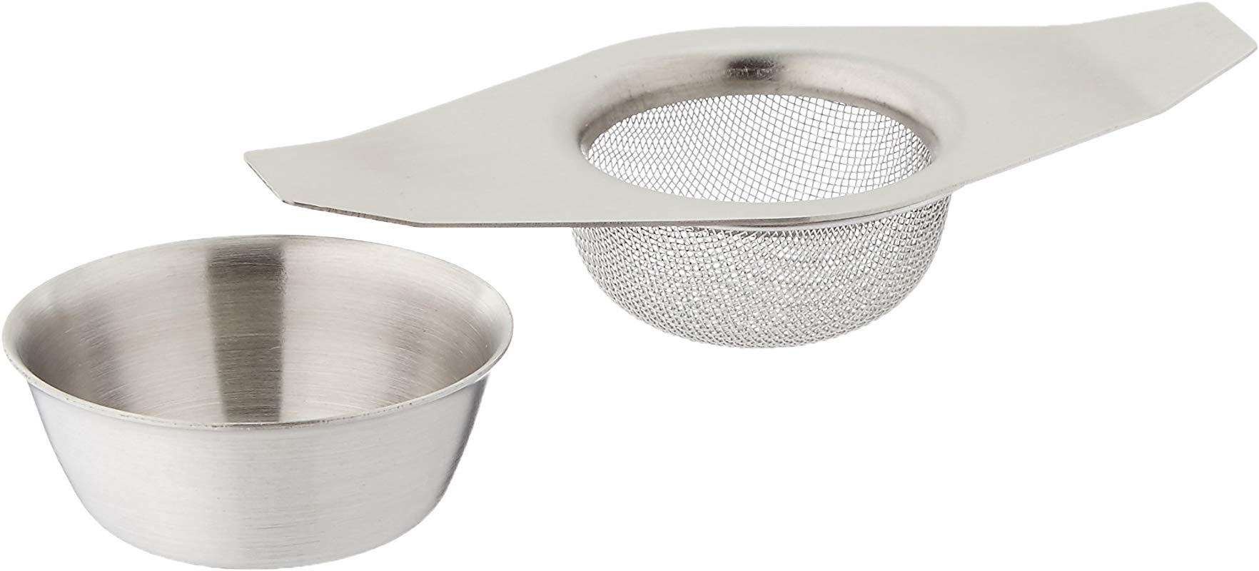 Espresso Supply Mesh Tea Strainer With Bowl Silver 10250