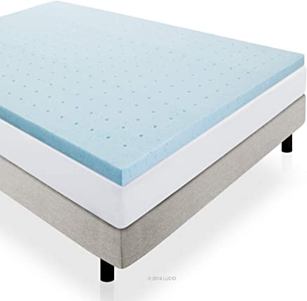 featured product LUCID 2 Gel Infused Ventilated Memory Foam Mattress Topper Queen