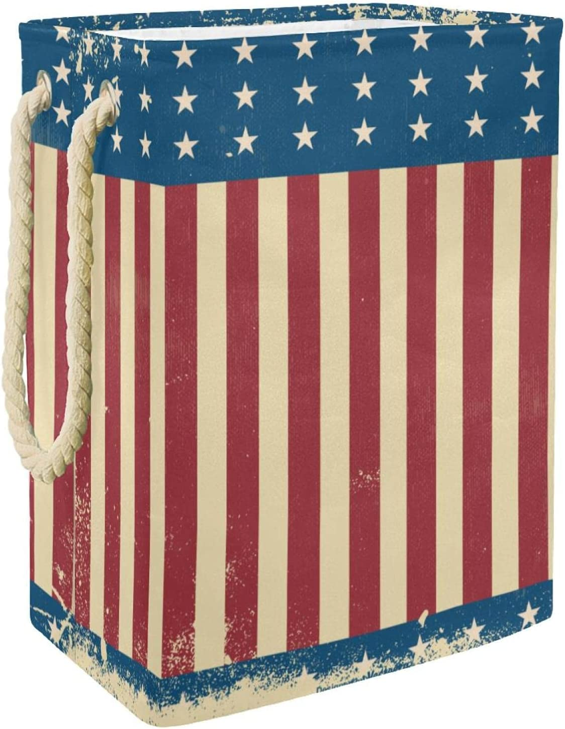 MAPOLO Laundry Hamper Grunge Style San Jose Mall Independnce Foldable Day Line SEAL limited product