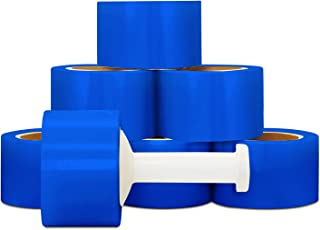 Stretch Wrap Film, Bundling Packing Wrap, Blue, 3 Inch x 1000 Feet, 80 Gauge, 18 Pack