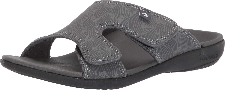 Spenco Women's Wave Slide Sandal, Black, 5 Medium US