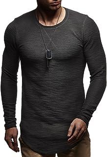 Leif Nelson LN8133 Men's Long-Sleeved Crew Neck Oversized Sweater