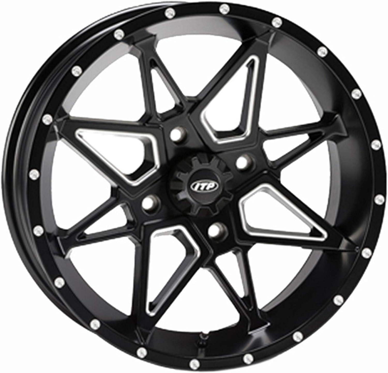 Tornado Wheel - 15x7-5+2 Offset 4 wholesale New color 115 Black Mille with Matte
