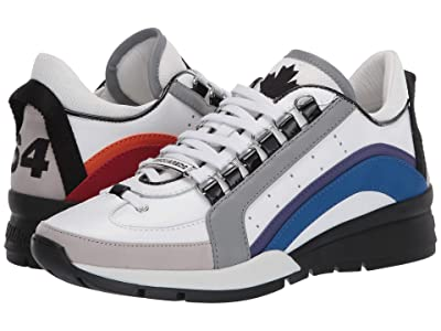 DSQUARED2 551 Rainbow Sneaker (White/Multi) Men