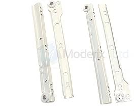 Glissi/ères /à glissi/ère 16 pouces NUZAMAS 2 paires de glissi/ères /à roulement /à billes en acier pour extension compl/ète du c/ôt/é des tiroirs 40 cm