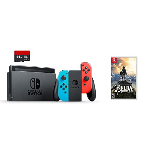 9d6a8cfaecf Nintendo Swtich 3 items Bundle Nintendo Switch 32GB Console Neon Red and  Blue Joy-