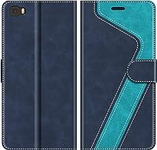 MOBESV Custodia Huawei P8 Lite, Cover a Libro Huawei P8 Lite 2015, Custodia in Pelle Huawei P8 Lite Magnetica Cover per Huawei P8 Lite 2015, Elegante Blu