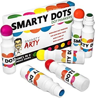 Smarty Dots - Dot Markers, Water Based, Non-Toxic Washable Dot Markers, Easy to use and Easy to Clean, Bingo Markers, Perfect for Kids.