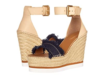 See by Chloe SB28152 (F.Denim/Natural Calf Beige) Women