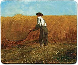 dealzEpic - Art Mousepad - Natural Rubber Mouse Pad with Famous Fine Art Painting of The Veteran in a New Field by Winslow Homer - Stitched Edges - 9.5x7.9 inches