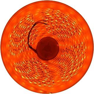 Orange LED Light Strip SMD3528 300LED 16FT Waterproof Flexible Orange Room Christmas Decor Light Strip TV Backlight DC12V for Party Room Kitchen Indoor Xmas Decoration