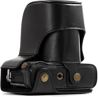 MegaGear Ever Ready Leather Camera Case and Strap Compatible with Fujifilm X-A5, X-A3, X-A2, X-A1, X-M1