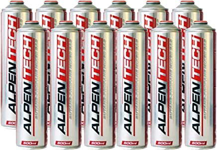 Alpentech UN2037 4 x 227g Butane Gas Cartridge Refill for Weeders Stoves and Camping Lamps
