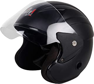 Gati1 Open Face Helmet Matt Black (Size-M)