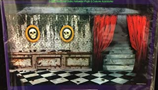 Scary Gothic Mansion ABANDONED HAUNTED HOUSE MURAL Garage Door Poster Decoration