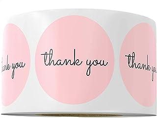 Pink Thank You Stickers Ramadan Eid Pink Stickers Birthday Party Favors Ramadan Eid Deco Gift Bag Kraft Label Decor Candy ...