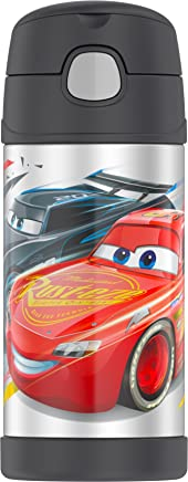 Thermos F4017CR6 12 oz Cars FUNtainer Bottle with Durable Stainless Steel Interior,