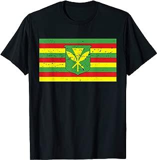 Native Hawaiian Flag Defend Mauna Kea Sacred Aloha Resist   T-Shirt