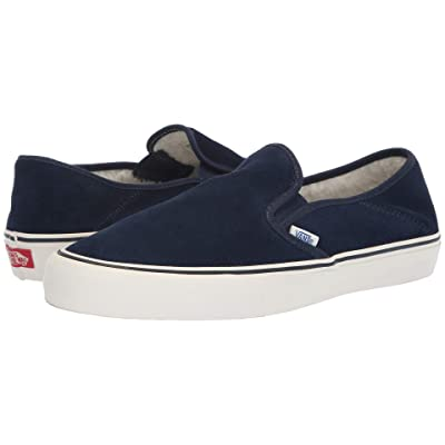 Vans Slip-On SF ((Fleece) Dress Blues/Marshmallow) Shoes